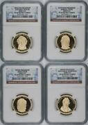 Lot Of 4- Complete 2009-s 1 Presidential Dollars Set Ngc Pf69 Ultra Cameo