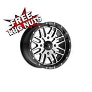24 Inch 24x7 Msa Offroad M38 Brute Black Machined Wheels Rims 4x5.39 4x137 +10