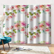 Fragrant Peach Blossoms In Bud Printing 3d Blockout Curtains Fabric Window