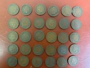 Lot Of 30 1909 Indian Head Cents / Very Nice Condition, Some Full Liberty G