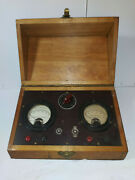 Weston Electrical Instruments Co. Model 301 Ma D.c. And A.c. Set Wood Case