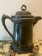 Antique Barbour Quadruple Silverplate Coffee Insulated Water Beverage Heavy 2303