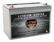 Vmax Lfp27-12100 12v 100ah Lithium Battery For Ups Portable Devices Medical Cart