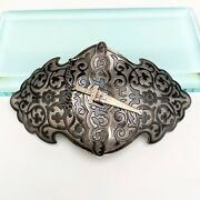 Antique Imperial Russian Silver Cossack Sash Buckle With Kokoshnick Marks