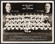 Cosmo-sileo Photo Ny Yankees Original Team Photo With Lou Gehrig And Joe Dimaggio