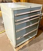 Used Machinist 5 Drawer Tool Box With Change Gears Cutters And Tools