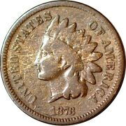 1873 1c Doubled Liberty Snow-1 Indian Head Cent Vg K11892