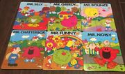 Vintage Mr Man Puzzles Lot Of 6 Frame Tray 1983 Roger Hargreaves Htf