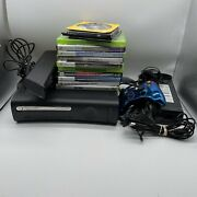 Microsoft Xbox 360 Elite 120gb Console W/ 1 Controller Kinect 14 Games And Headset