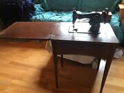 Antique Singer Manufacturing Folding Sewing Machine Table In Good Used Condition