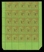 French Colonies - Reunion Island 1893 Surcharges Scott 53-54 Mint Mnh X25 Block