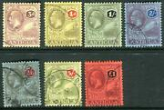 Antigua-1921-9 A Fine Used Multi Crown Set To Andpound1 Sg 55-61