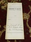 Commitment Of Insanity Papers 1888 Oregon State Insane Asylum 5 Pages