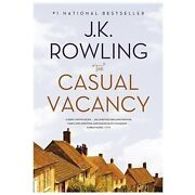 The Casual Vacancy By J.k. Rowling Soft Cover Brand New