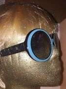 Cnanel Stunning Famous Retro Design Quilted Round Black And Blue Posh Sunglasses