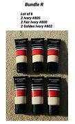 Cover Girl Mixed Of Active 24 Hr Foundation Spf 20 Bundle R / Lot Of 6 New