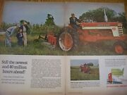 Vintage Farmall International Advertising - 560 Tractor And Plow - 1960