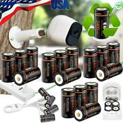Ebl 3v Cr123 16340 Li-ion Usb Rechargeable Batteries+charger For Arlo Camera Lot