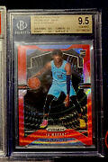 2019-20 Panini Prizm Ja Morant Ruby Wave Gem Mint Bgs 9.5 Roy Poss Psa 10 Cross