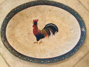 Noble Excellence 16 X 12 Oval Platter. Rooster Cafe Design.never Used