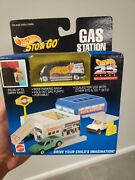 Mattel Hot Wheels Sto And Go Auto Service Station, 25 Years Team Racing Van
