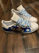 Adidas Custom Painted Mario Brothers Men's Stan Smith Size 9.5