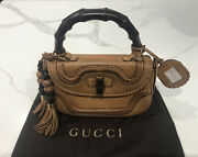 Top Handle Bamboo Studs Braids Tan Bag - Rare Limited Edition New Andpound3020
