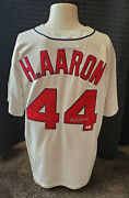 Hank Aaron Autographed Signed Braves 1963 Model Mitchell And Ness Jersey - Gai