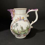 """Small Meissen 18th Century Porcelain Pitcher 4.5"""" Tall"""