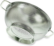 Stainless Steel Colander Strainer Kitchen Large Metal Cooking Utensil Silver New