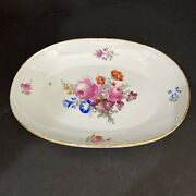 """Marcolini Meissen 18th Century Oval Plate 9.25"""" Long"""