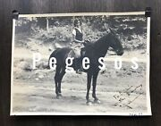 Vintage 1930and039s B And W Equestrian Photo Lake Lure Camp For Girls North Carolina