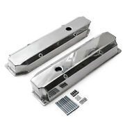 Mopar Chrysler Bb 383 440 Polished Fabricated Valve Covers - Tall W/ Hole