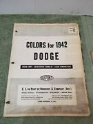 Colors For 1942 Dodge Color Chips Color Mixing Color Combinations