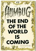 Humbug 1  Vfnm  August 1957 Dust Shadow Back Cover See Photos