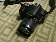Likenew Canon Eos T1i 500d 15mp Digital Slr Camera Body With 18-55mm Is Lens
