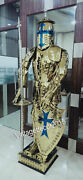 Armor Stainless Steel Fully Wearable Medieval Templar Knight Full Suit Home Deco