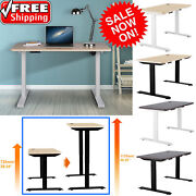 Electric Standing Desk Height Adjustable Motorized Home Office Computer Pc Table