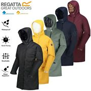 Regatta Ladies Rimona Insulated Long Length Parka Waterproof And Breathable Jacket