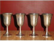 4 Wallace Sterling Water Goblets 14 24.3oz / 691 Grams