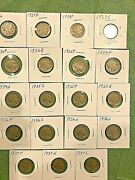 21 Buffalo Nickels 1926-1938d , 1940 And 1945 Silver Nickel - Free Shipping