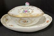"""Meissen 18th Century Marcolini Porcelain Serving Dish Tureen 4.5"""" Tall"""