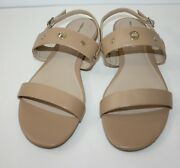 Lands End Womens Beige Sandals New Size 9.5b Neve Flat