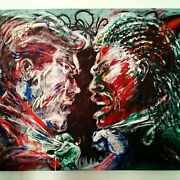 Original Hand-painted Acrylic Painting On Canvas