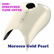 Morocco Gold Pearl Stretched Tank Cover For Harley 08+ Street Glide Androad Glide