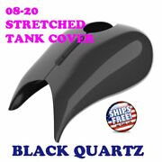 Black Quartz Stretched Tank Cover For Harley 2008-20 Street Glide And Road Glide
