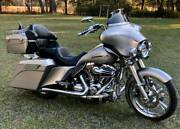 Pewter Pearl Stretched Tank Cover For Harley 2008-2020 Street Electra Road