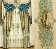Jacquard Tulle Cloth Curtains Window Treatment Ceiling Installation Woven Decors