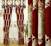 Jacquard Embossed Window Curtains Ceiling Installation Floral Woven High Shading