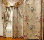 Window Curtains Embroidered Jacquard Tulle Cloth Home Decorations Floral Curtain